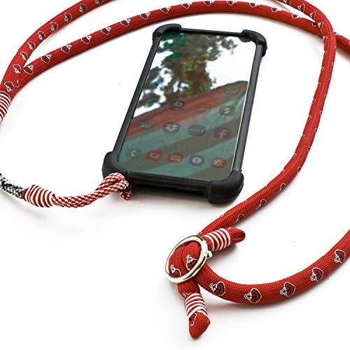 ASTRA Handy Lanyard, Silikon Umhängeband Halsband Trageband aus Tauwerk für Universale Smartphones kompatibel mit iPhone/Samsung/Huawei, handgetakelt in Hamburg