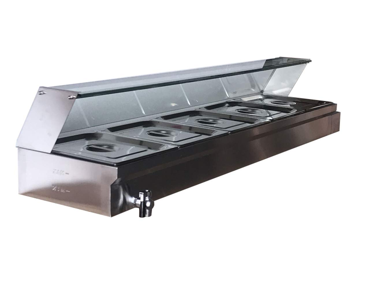 INTBUYING Stainless Bain Marie Countertop Restaurant