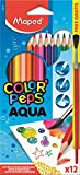 Maped Color'Peps Aqua Watercolour Colouring Pencils and Brush (Pack of 12)
