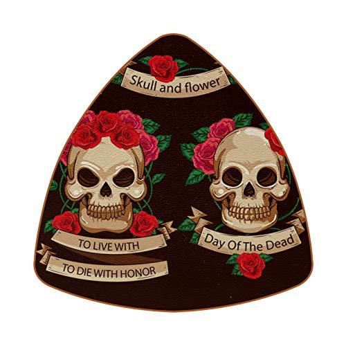 Posavasos de 6 piezas de diamante para bebida, posavasos decorativos para tipos de tazas y tazas, diseño de calavera de azúcar en México Día de los Muertos