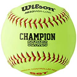 Image: Wilson A9331ASA Series Softball (12-Pack), 11-Inch, Optic Yellow