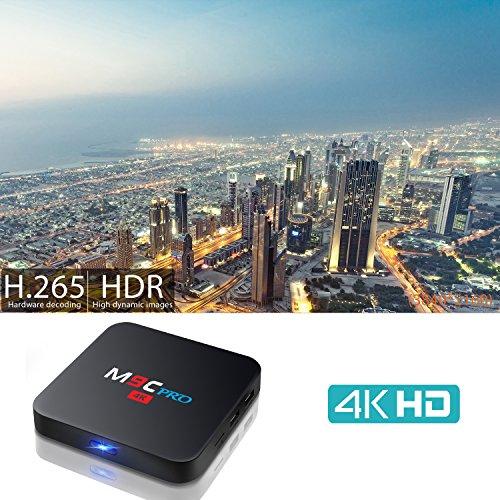 Bqeel Android TV-Box M9C Pro Amlogic S905X Quad Core Android 6.0 XBMC 16.1 TV-BOX 1G / 8G 4K WiFi H.265 DLNA Miracast HD Media-Player