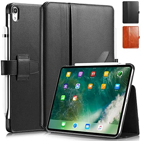 KAVAJ Case Leather Cover London Works with Apple iPad Air 4 10 9 2020 Black Genuine Cowhide product image