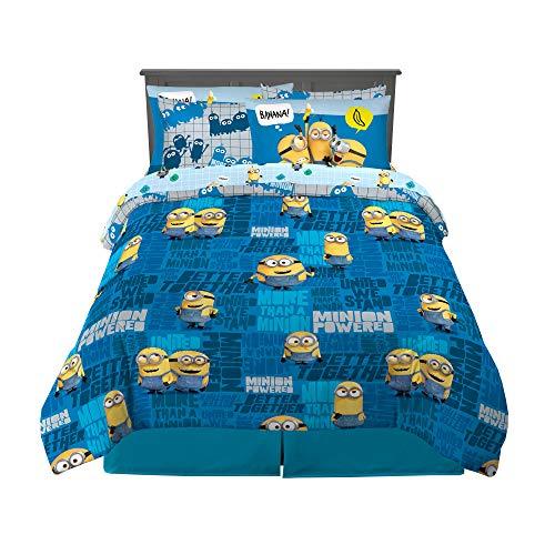 Franco Kinder-Bettwäsche-Set, superweich, Minions und Bettlaken, 7-teiliges Set