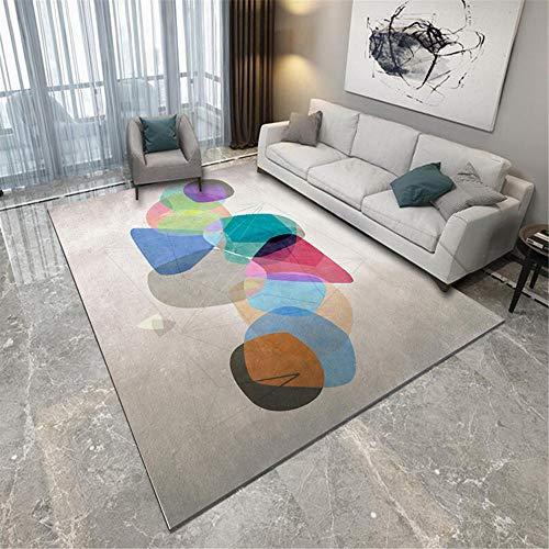alfombra exterior terraza alfombras y moquetas La alfombra de la sala de estar gris es resistente a las manchas, duraderas y lavables a máquina. alfombra de juegos 120X180CM 3ft 11.2'X5ft 10.9'