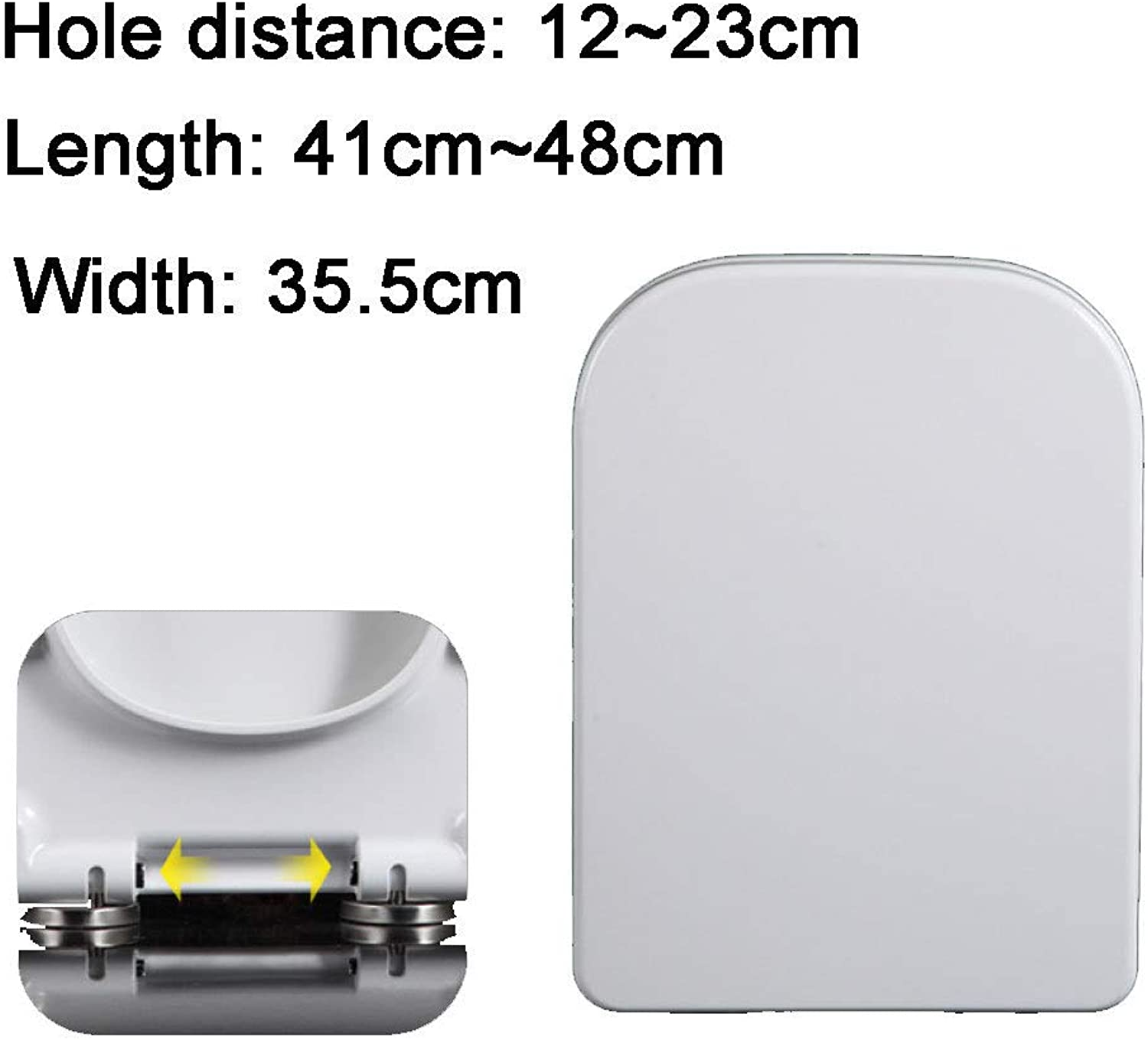 S-graceful Toilet Lid With Slow Down Mute Toilet Seat Cover Thickened Top Mounted Bathroom Lid For Trapezoid Toilet Seat,A