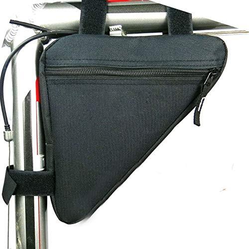 shuai Bolsa de Montar Bicicleta, Bicicleta Bicicleta Bolsa de Ciclismo Frente Tubo Marco Teléfono Impermeable Bolsas Bicicletas Triángulo Pouch Holder Bicicletas Accesorios Gran Capacidad