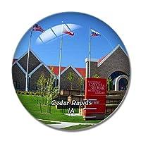 Cedar Rapids Museum Libraryアイオワ米国冷蔵庫マグネットホワイトボードマグネットオフィスキッチンデコレーション