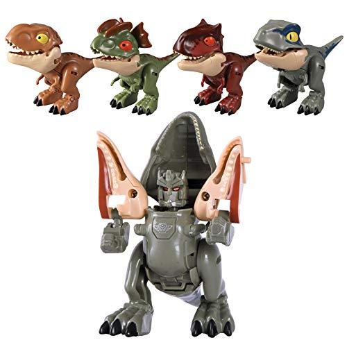 Weelth Dinosaurio/Robot Dinosaurio de deformación niños + 6 años (Velociraptor)