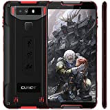 "Cubot Quest (2019) Ultra Dünn Android 9.0 4G Dual SIM IP68 Wasserdicht Sport Outdoor Smartphone ohne Vertrag, 5.5"" HD+ Bildschirm mit 4000 mAh Akku, 4GB Ram+64GB Rom, 12MP+2MP / 8MP, NFC (Schwarz+Rot)"