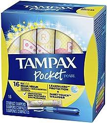 Tampax Pocket Pearl Regular Compact Tampons, 16 count