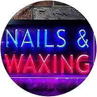 Nails Waxing Beauty Salon Display Dual Color LED看板 ネオンプレート サイン 標識 赤色 + 青色 300 x 210mm st6s32-i0358-rb