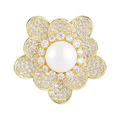 Liudan Brosche Brosche Damenkleidung Accessoires Perlen Bust Garland Schal Schal Schnalle Dual-Purpose Eckdekoration Pin