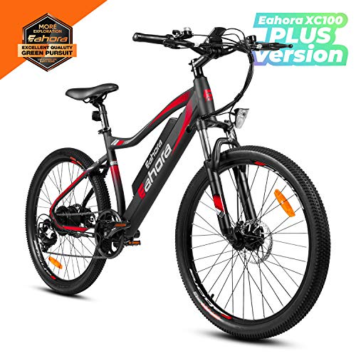Eahora 26inch Mountain Electric Bike 350W Urban Electric Bikes for Adults with Removable 48V...