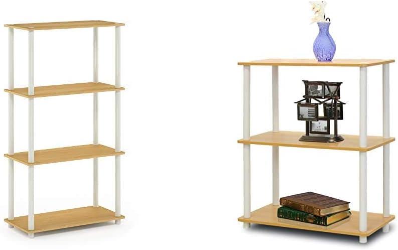 sold out Furinno Turn-N-Tube 4-Tier Multipurpose Display Shelf Sing discount Rack