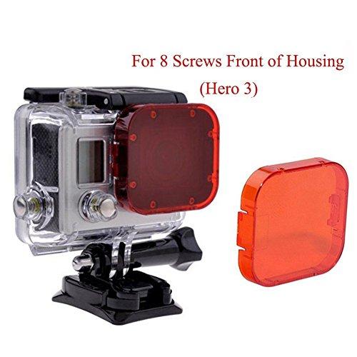Yeholding, filtro rosso per GoPro Hero 5,Hero 4,Hero 3Plus, Hero 3SJ4000e altre action camera