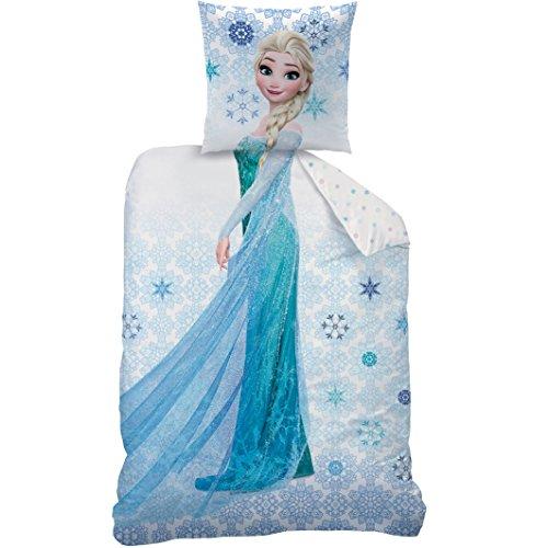 CTI - Disney - La Reine des Neiges - Housse de Couette Frozen Ice Enfant Coton, Bleu, 200x140 cm