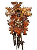 Reloj De Cuco en la selva negra/Negro Bosque de reloj (Original, certificado), de 1de día de, Mecánico, 5hojas de hojas, 3pájaros, kukus Reloj, kukuks Reloj, kuckuks Reloj (Bonito regalo de Navidad)