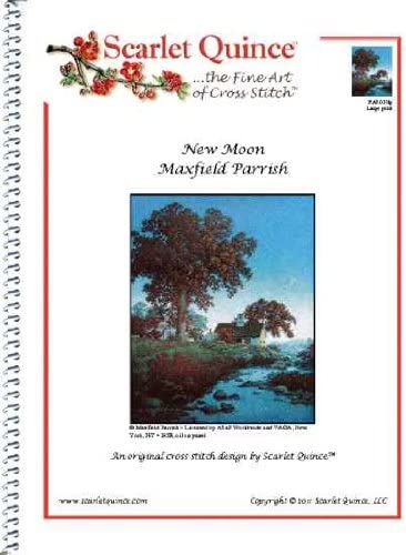 Scarlet Quince PAR017lg New Max 64% OFF Moon Counted by Maxfield Parrish Cro excellence