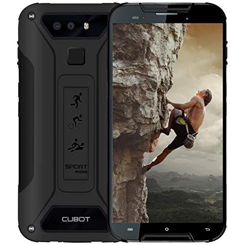 CUBOT Quest Lite 4G IP68 Móvil Libre Impermeable Smartphone Robusto Android 9.0 3GB+32GB 5.0 Pulgadas Android Dual SIM Quad-Core Dual Cámara 12Mp 3000mAh Botón Personaliado Type-C Negro