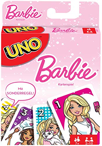 Mattel Games FMP71 - UNO Barbie Kartenspiel, Kinderspiele ab 7 Jahren