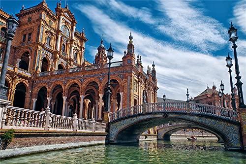 YANCONG Puzzle Personalizado 300 Piezas, Arquitectura del Canal De Sevilla España
