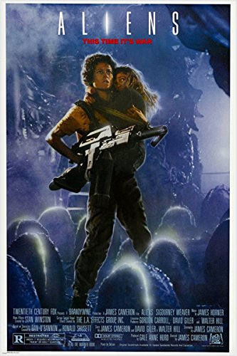 SIGOURNEY WEAVER classic movie poster ALIENS sci-fi thriller SPACE 24X36 hot (reproduction, not an original) by HSE
