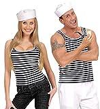 WIDMANN Traje de marinero a rayas camisa XL Extra Large para la Armada del Mar del vestido de lujo
