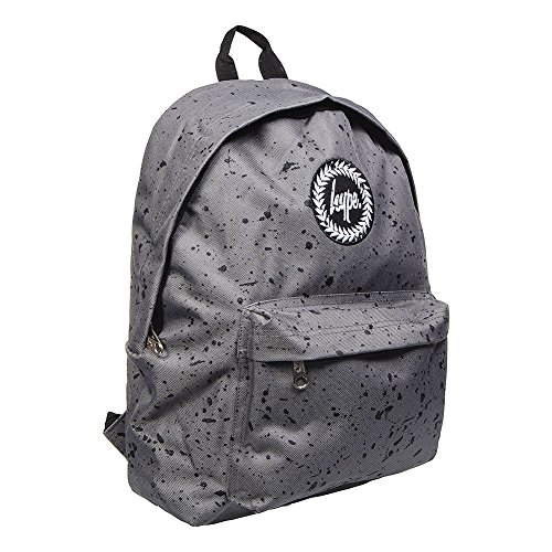 Hype Backpack Bags Rucksack – Ideal School Bag and Christmas Gift - Grey with Black Speckle