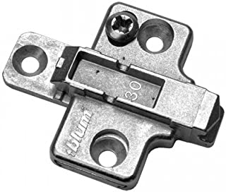 Blum B175H7 0mm Die Cast Screw On Frameless Clip Mounting Plates