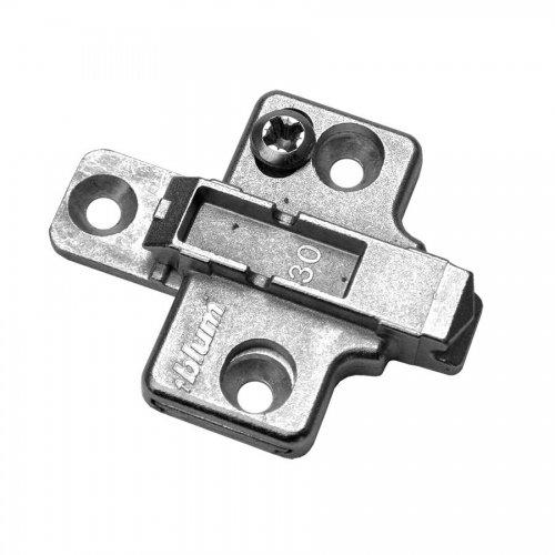 BLUM 7361713 Clip Kreuzmontageplatte, Spax-Schrauben, HV: 2-teilig, Distanz 0 mm