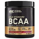 Optimum Nutrition Gold Standard BCAA, Aminoacidi Ramificati in Polvere, Vitamina C con Magnesio, Zinco, Elettroliti, Lampone e Melograno, 28 Porzioni, 266 g, il Packaging Potrebbe Variare