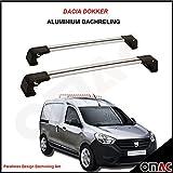 OMAC GmbH Dacia Dokker ab 2012 Grau Dachreling Set mit Schlüssel Paralleles V3 Wing