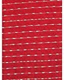 Storehouse Holiday Decorative Throw Blanket Toss White Dotted Stripe Pattern on Christmas Red - Mini Dot