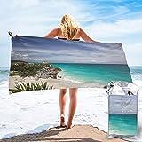 Colin-Design Tulum - Toallas de viaje de microfibra, secado rápido, ligera, sin arena, para tomar el sol, hacer mochila, deportes, yoga, natación, 160 x 81 cm