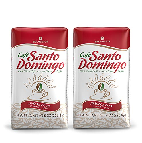 Santo Domingo Coffee, 8 oz Bag - 2 Pack, Ground Coffee - Product from the Dominican Republic