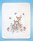 Tobin Janlynn Stamped Quilt Cross Kit 34'X43' Baby Deer-Stitched in Floss, Multi