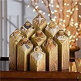 Juego de 9 estatuas de pilar de árbol de la natividad del cielo, bebé/estrella/ángel/tres reyes/pastor, figuras de pilar de árbol de Navidad, estatua de Jesús, mesa de recuerdo de la iglesia