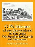 TELEMANN - Cuarteto en Si menor (TWV:43/h1) (Partitura/Partes)