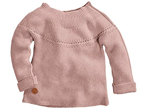 Bio Kinder Strickpullover100prozent Bio-Baumwolle (KbA) GOTS zertifiziert, Rose, 98/104