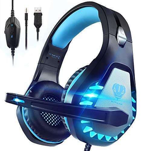 Pacrate Gaming Headset with Microphone for Laptop PS4 PS5...