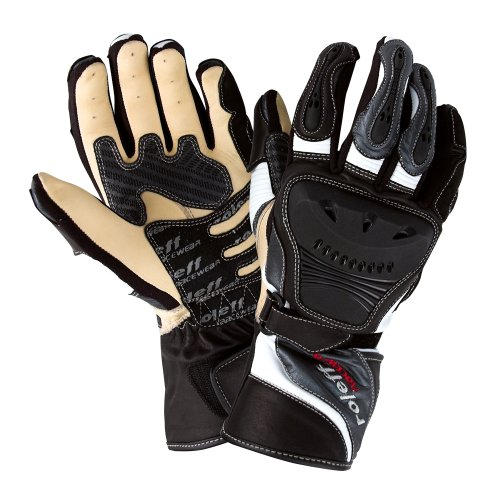 Roleff Racewear Lederhandschuhe, Schwarz/Grau, Größe XXL