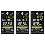 Grandpa's Pine Tar Bar Soap 3.25 Ounce (Pack of 3)