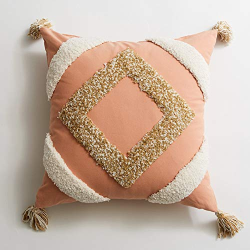 LKHTR Cushion Cover,Moroccan Style Tassels Pillow Cover for Home Decoration Sofa Bed 45x45cm/30x50cm