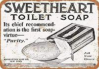 1909年の恋人のトイレの石鹸、のブリキの看板、ヴィンテージの鉄の絵の金属板ノベルティの装飾クラブカフェバー