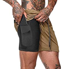 Friendly Tips:Please check Men Workout Running Shorts description before you order it.Please Check Description Chart and Place the size on Description. BREATHABLE FABRIC: Men Gym Workout Boxing Shorts Ultra-lightweight, stretchy woven fabric delivers...