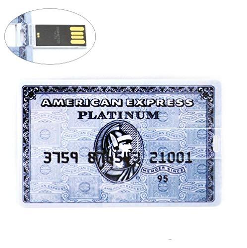 64GB Grau American Express Speicherstick USB 64GB Ultraslim USB-Stick Kreditkarte USB-Flash-Laufwerk