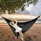 Hamaca aérea gigante para acampar, hamaca fija de 3 puntos, hamaca triangular al aire libre, carpa en el cielo de la casa del árbol, para acampar, viajar, patio trasero, patio, bosque,2x2x2cm