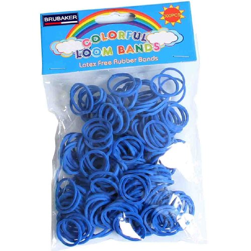 Brubaker by DIY Loom - Bandas de recambio (300 unidades, incluye 12 clips en S), color azul