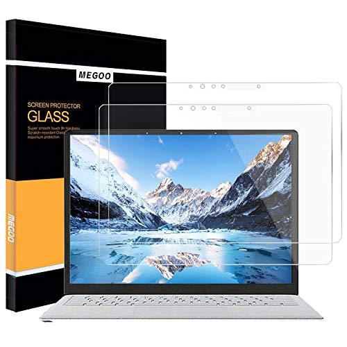 [2 Stück] Surface Laptop 3 Panzerglas Displayschutzfolie, Gehärtetem Glass, HD-Klar/Reibungslose Berührung Kompatibel Schutzfolie für Microsoft Surface Laptop3/2-13,5 Zoll